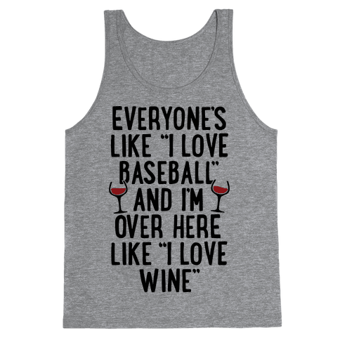 Baseball And Wine Tank Top