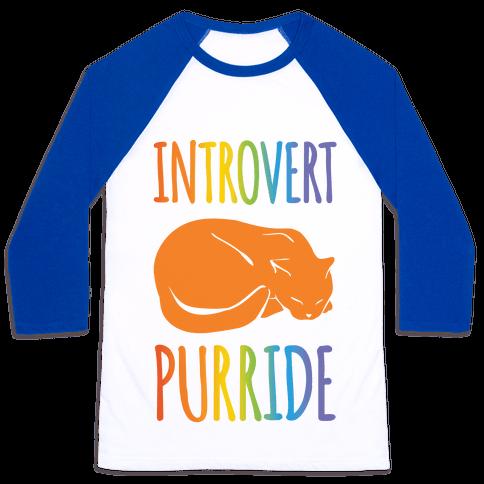 Introvert Purride Baseball Tee