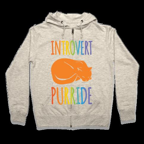Introvert Purride Zip Hoodie