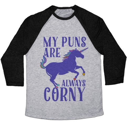 My Puns are Always Corny Baseball Tee
