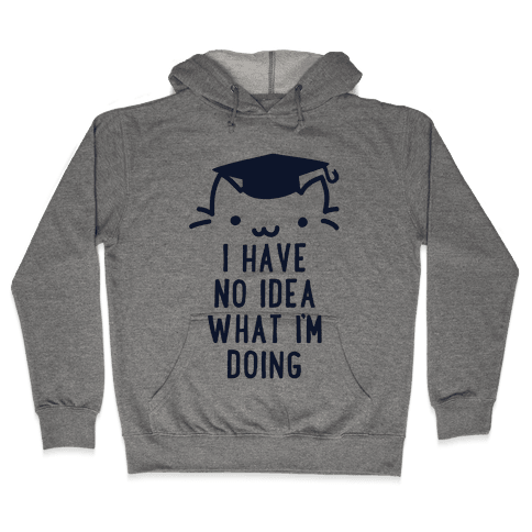 Graduation Cat Hooded Sweatshirt