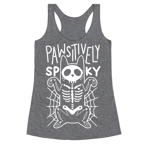 Pawsitively Spooky Racerback Tank Top