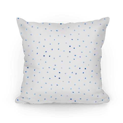 Blue Watercolor Polka Dots