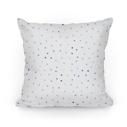 Blue Watercolor Polka Dots