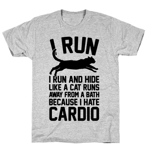 I Run Like A Cat Mens T-Shirt