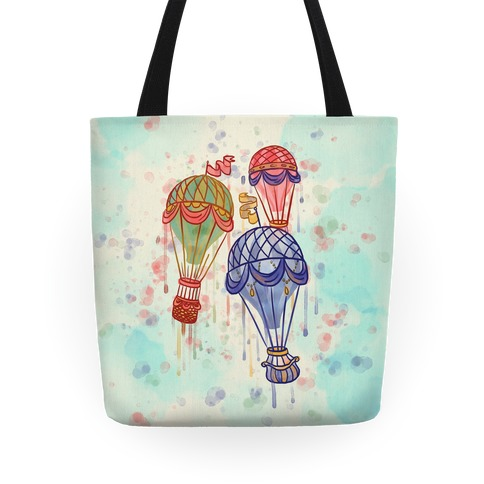 Watercolor Balloon Trip Tote