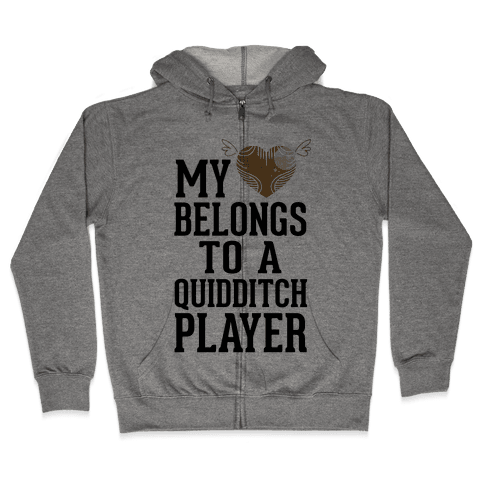 My Heart Belongs To A Quidditch Player Zip Hoodie