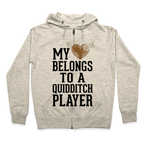 My Heart Belongs To A Quidditch Player Zip Hoodie