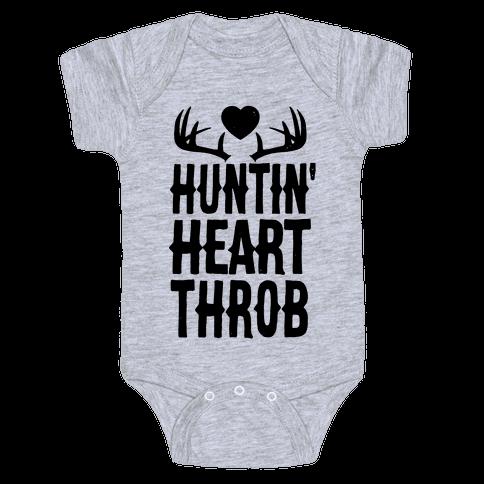Huntin' Heart Throb Baby Onesy