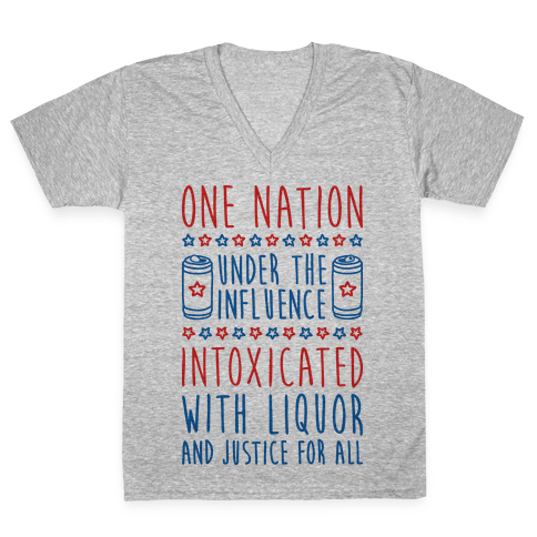 One Nation Under The Influence V-Neck Tee Shirt