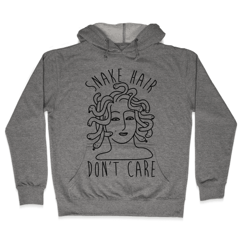 Snake Hair Don't Care Hooded Sweatshirt