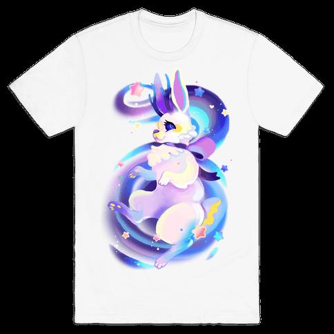 Neon Rainbow Jackalope Mens T-Shirt