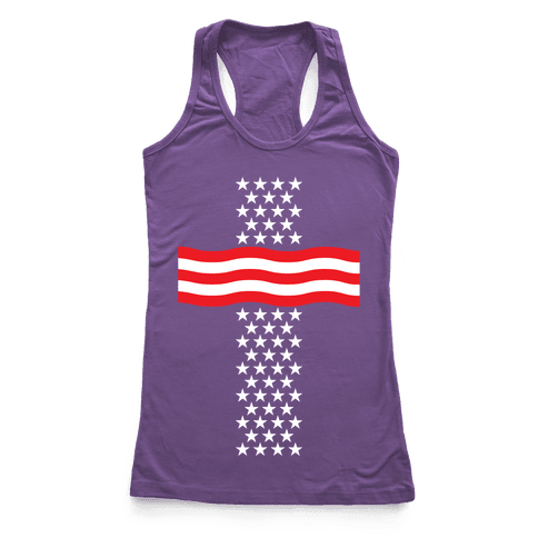 America Cross Racerback Tank Top