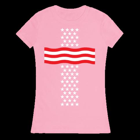 America Cross Womens T-Shirt