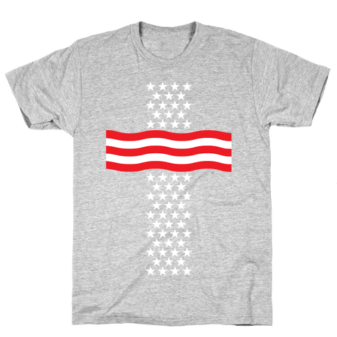 America Cross Mens T-Shirt