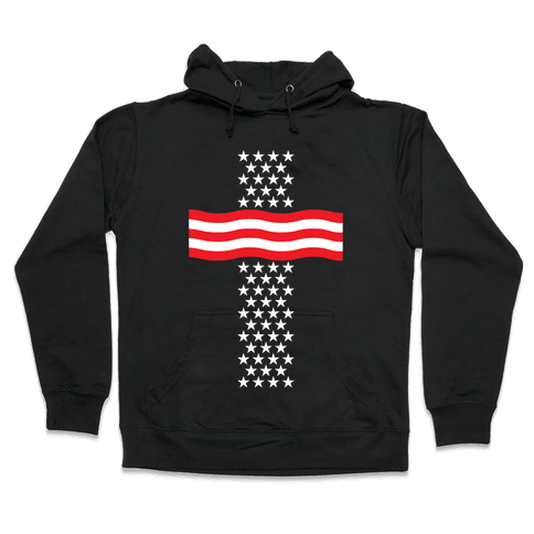 America Cross Hooded Sweatshirt