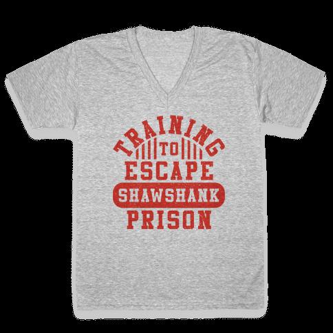 Training To Escape Shawshank Prison V-Neck Tee Shirt