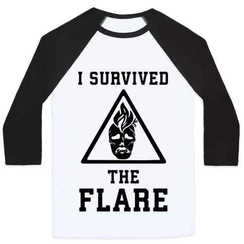 I Survived The Flare Baseball Tee
