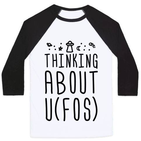Thinking About UFOs Baseball Tee