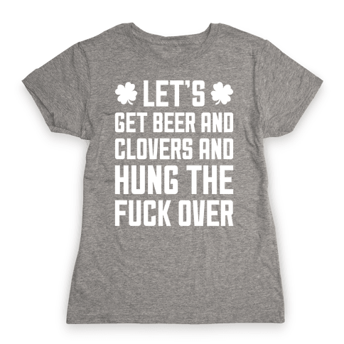 Beer And Clovers Womens T-Shirt