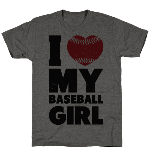 I Love My Baseball Girl Mens T-Shirt