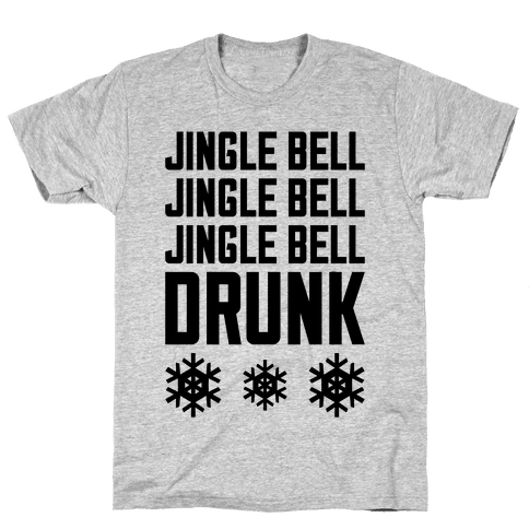Jingle Bell Drunk Mens T-Shirt