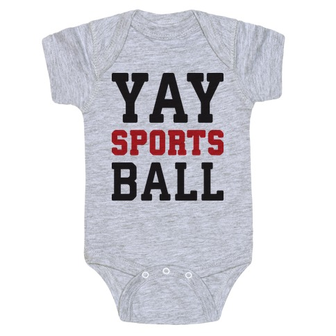 Yay Sports Ball Baby Onesy