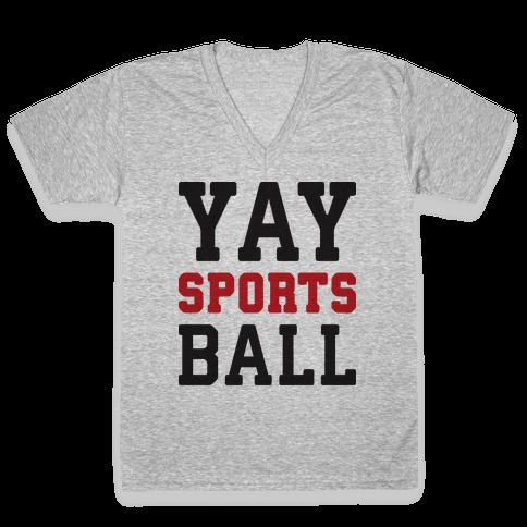 Yay Sports Ball V-Neck Tee Shirt