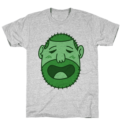 Cute Scruffy Dude (Green) Mens T-Shirt