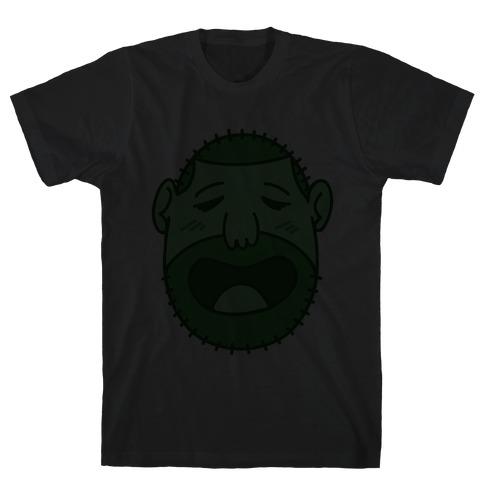 Cute Scruffy Dude (Green) Mens T-Shirt
