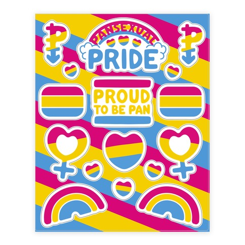 Pansexual Pride Sticker and Decal Sheet