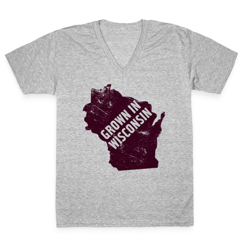 Grown in Wisconsin V-Neck Tee Shirt