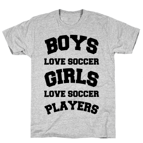 Boys and Girls Love Soccer Mens T-Shirt