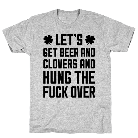 Beer And Clovers Mens T-Shirt