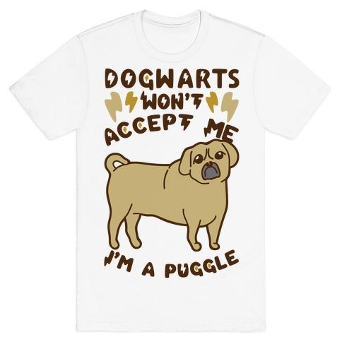 Dogwartz Won't Accept Me I'm A Puggle Mens T-Shirt