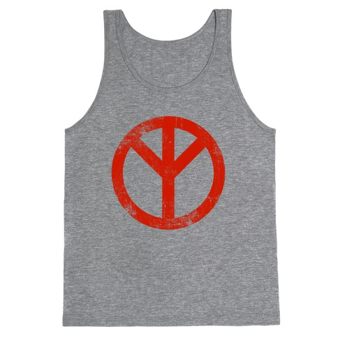 Reversed Peace Sign (Vintage) Tank Top