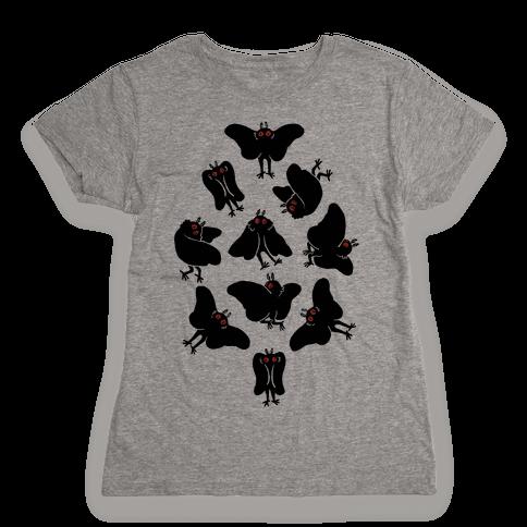 Cute Mothman Club Womens T-Shirt