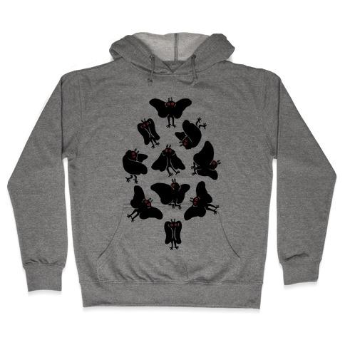 Cute Mothman Club Hooded Sweatshirt