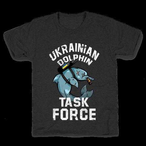 Ukrainian Dolphin Task Force Kids T-Shirt