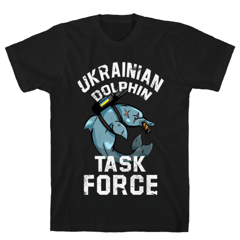 Ukrainian Dolphin Task Force Mens T-Shirt