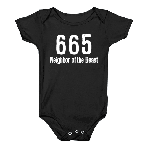 665, The Neighbor of the Beast Baby Onesy