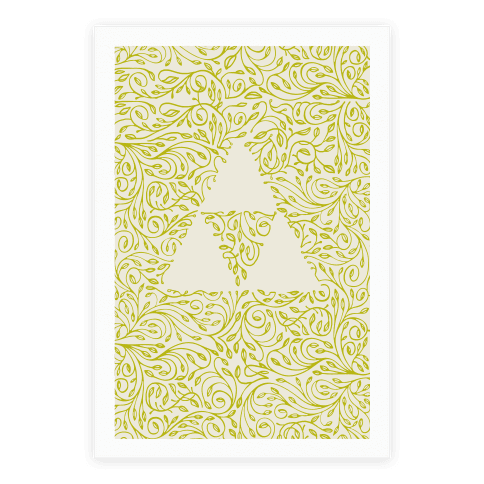 Subtle Triforce Pattern Poster