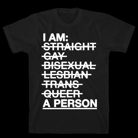 I am a Person Mens T-Shirt