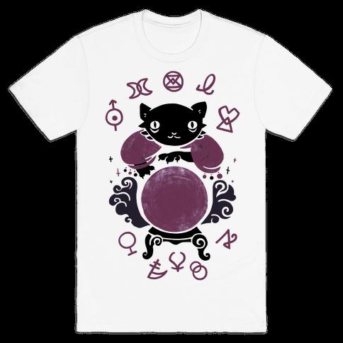 Lucky Tarot Cat #13 Mens T-Shirt