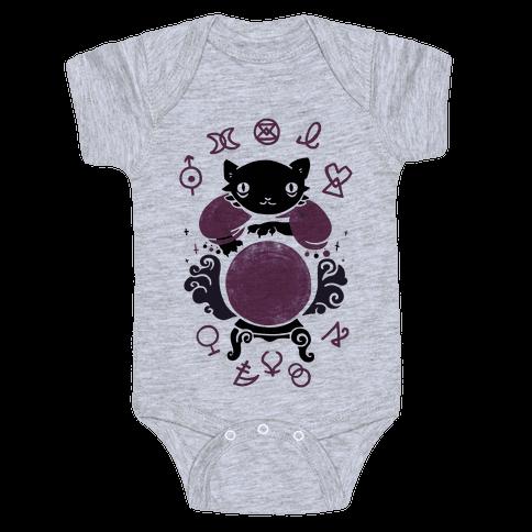 Lucky Tarot Cat #13 Baby Onesy