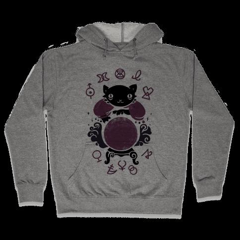 Lucky Tarot Cat #13 Hooded Sweatshirt
