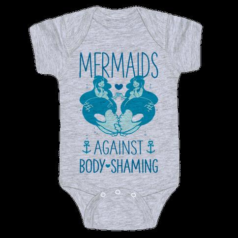 Mermaids Against Body Shaming Baby Onesy