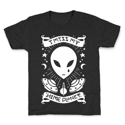 I Miss My Home Planet Kids T-Shirt