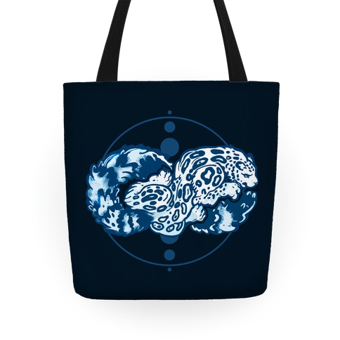 Infinity Snow Leopard Tote