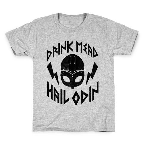 Drink Mead Hail Odin Kids T-Shirt